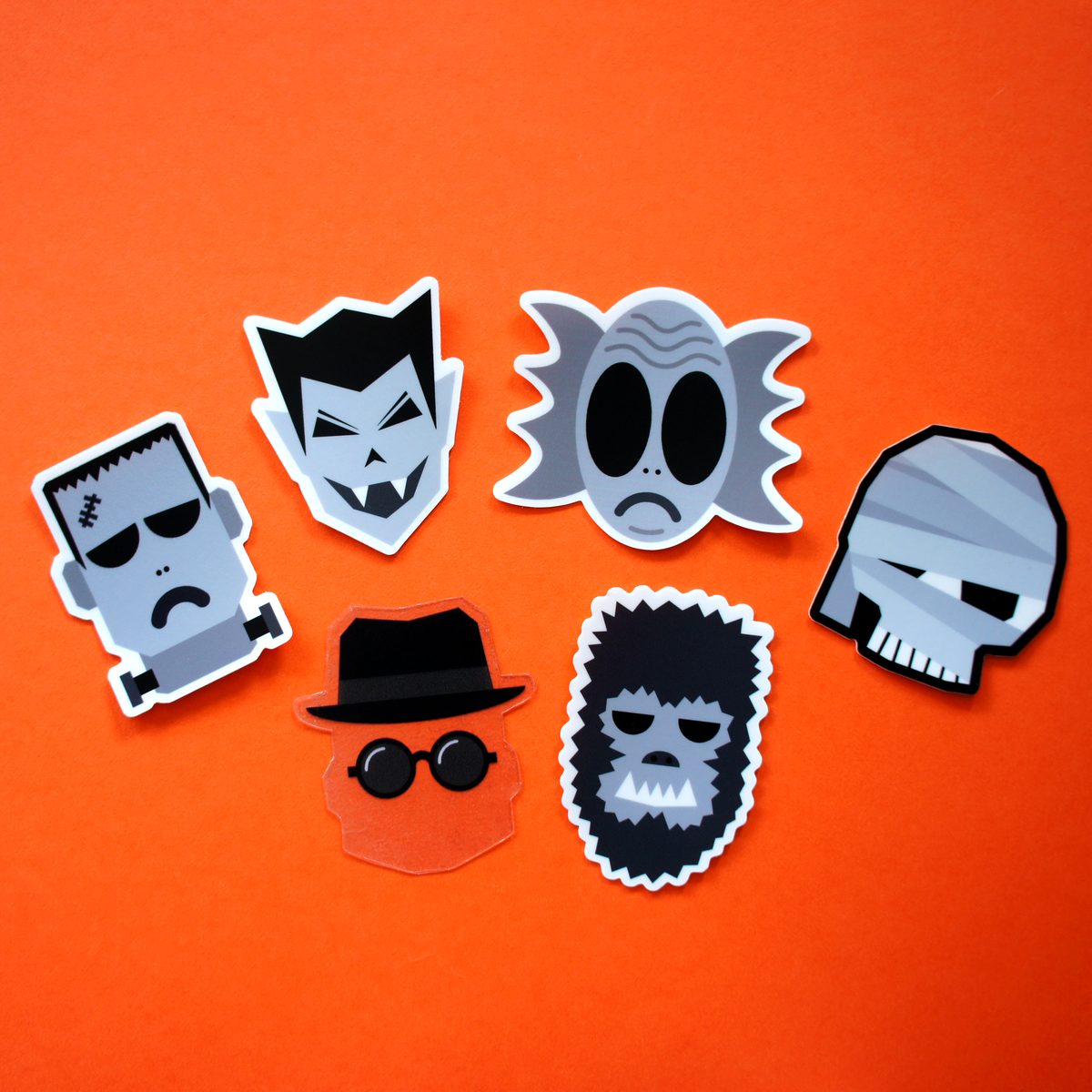 Classic Movie Monsters Sticker Pack