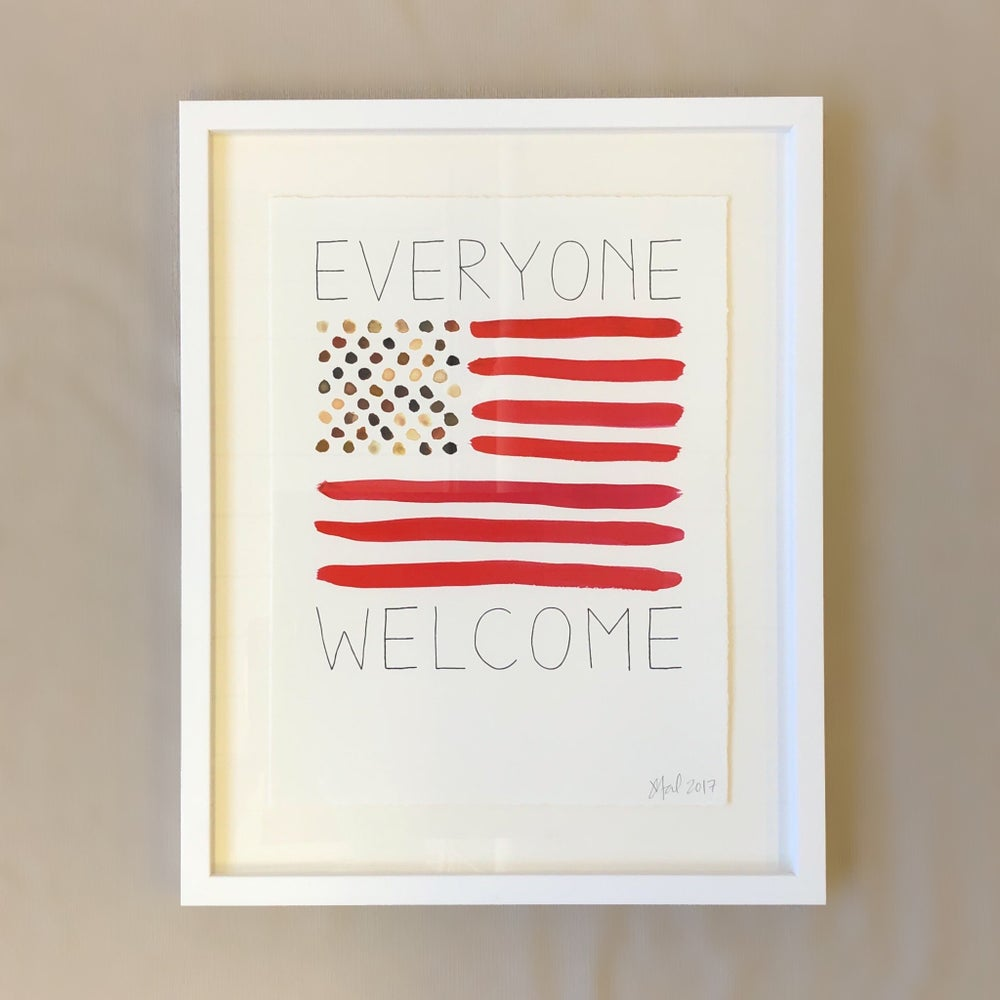 EVERYONE WELCOME Framed Poster
