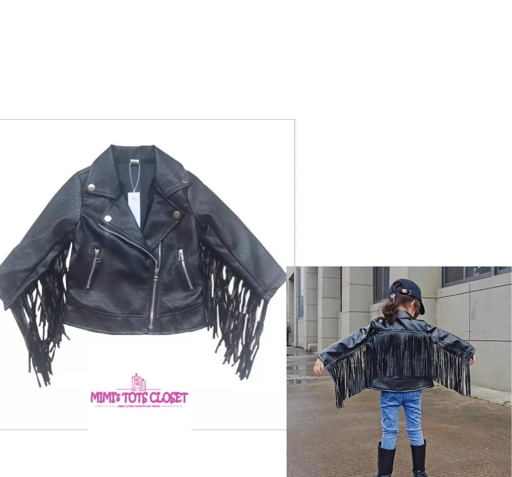 Image of Biker Girl  Leather Jacket