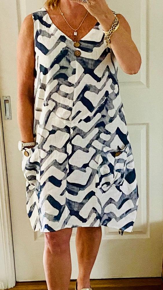 Image of Jo linen/cotton dress