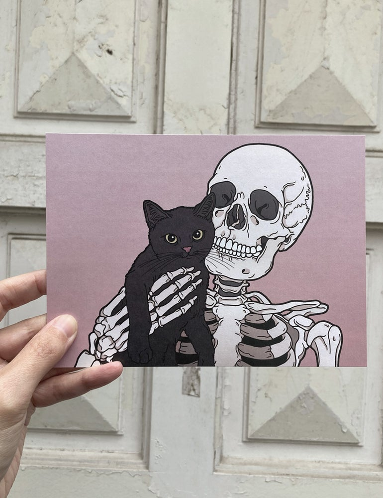 Image of Lil cat friend print