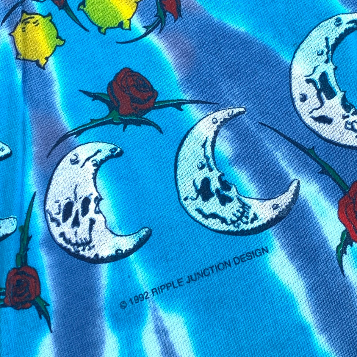 Original Vintage Grateful Dead Ripple Junction 1992  Sun Moon Short Sleeve Tee!  XX-LARGE