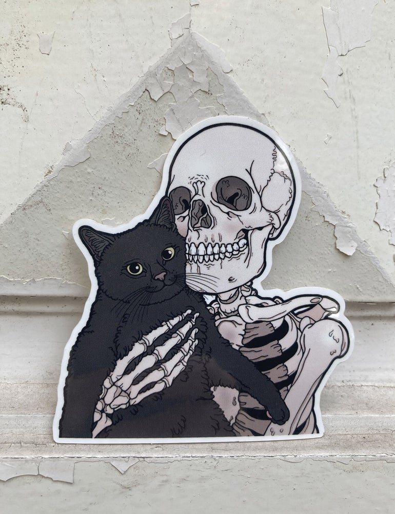Image of Black kitty sticker