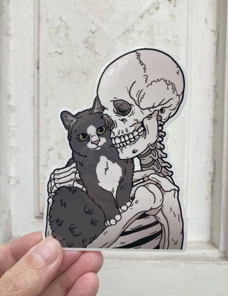 Image of Grey tuxedo cat sticker