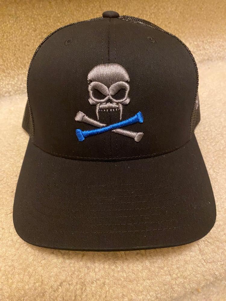 Image of Sonkei Blue Black Trucker Hat