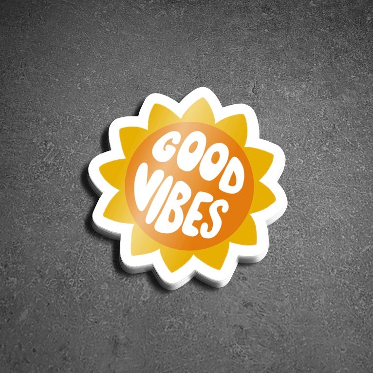 "Image of 2"" x 2"" vinyl sticker ""Good Vibes"""