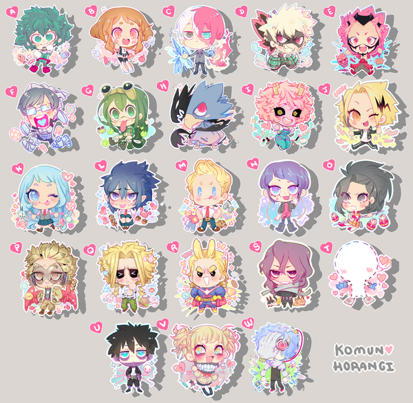 "Image of Herokids 2"" Acrylic Charms"