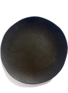 Image of Black Stoneware Plate.