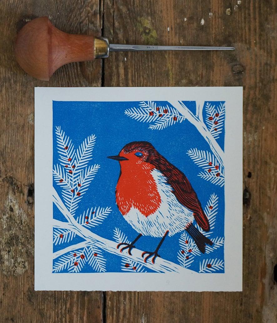 Image of Robin - Linocut