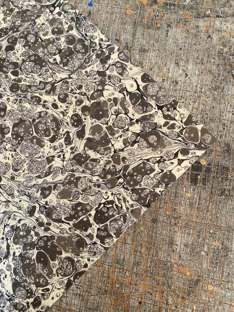 Image of NEW: PRINTED Marbled Paper - 'Dublin Stone'