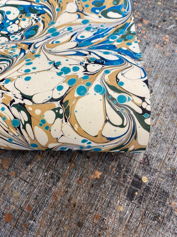 Image of NEW: PRINTED Marbled Paper - 'Ocean Bubble'