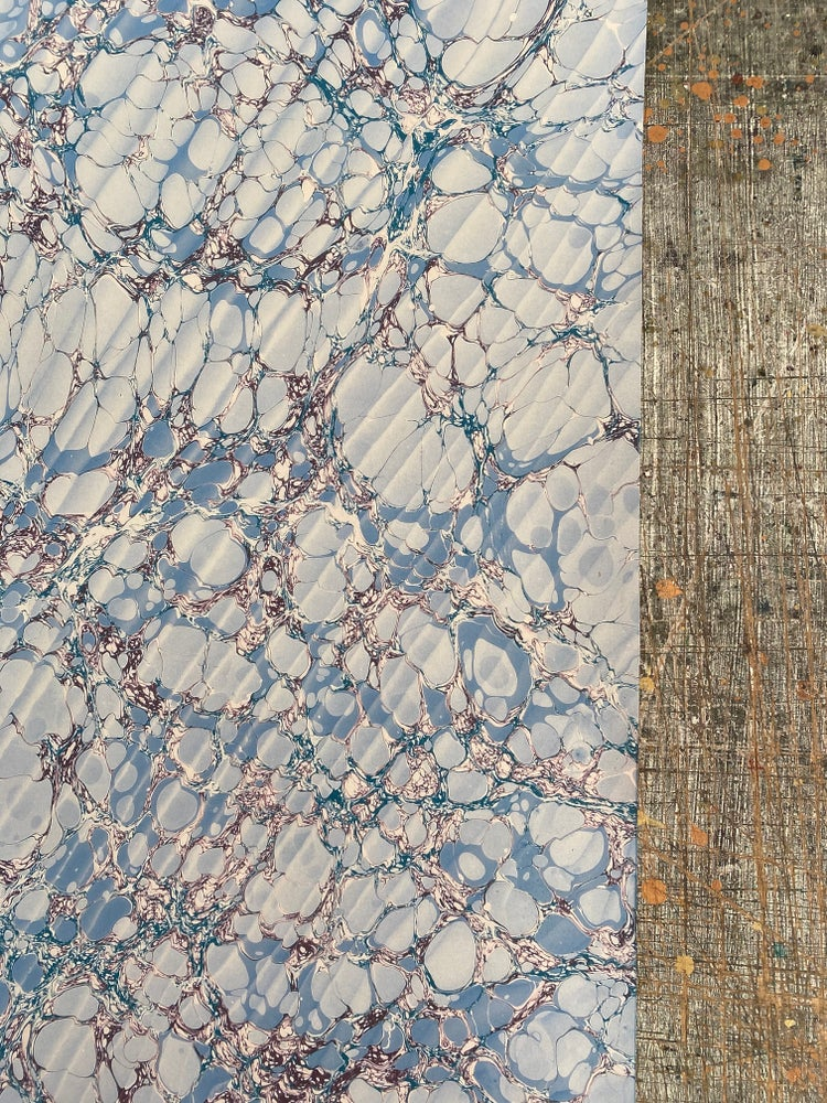 Image of NEW: PRINTED Marbled Paper - 'Moire Lace'