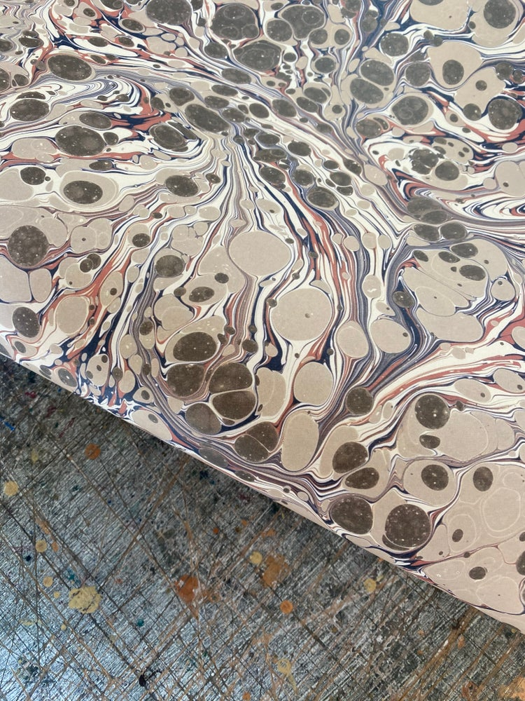 Image of NEW: PRINTED Marbled Paper - 'Florentine'