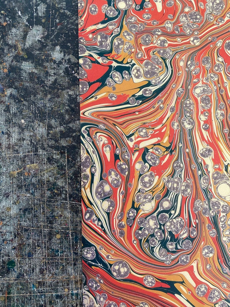 Image of NEW: PRINTED Marbled Paper - 'Desert Jasper'
