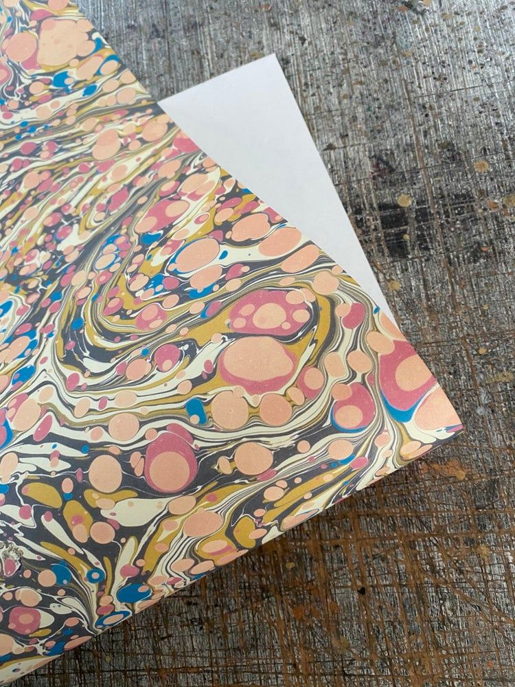 Image of NEW: PRINTED Marbled Paper - 'Summer Orchard'