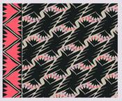 Image of Tissu : Caravan Black & pink