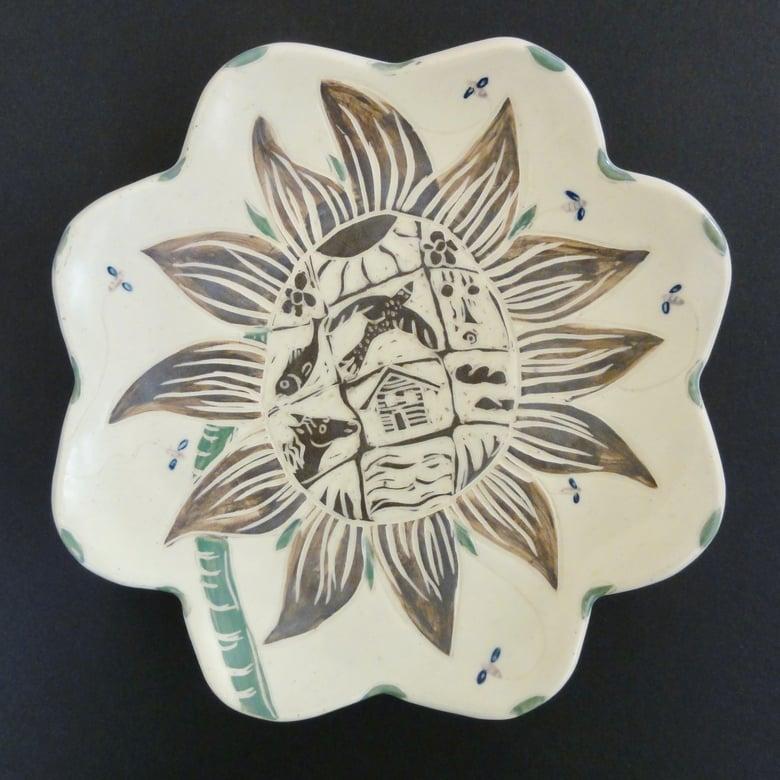 Image of Sunflower World Plate