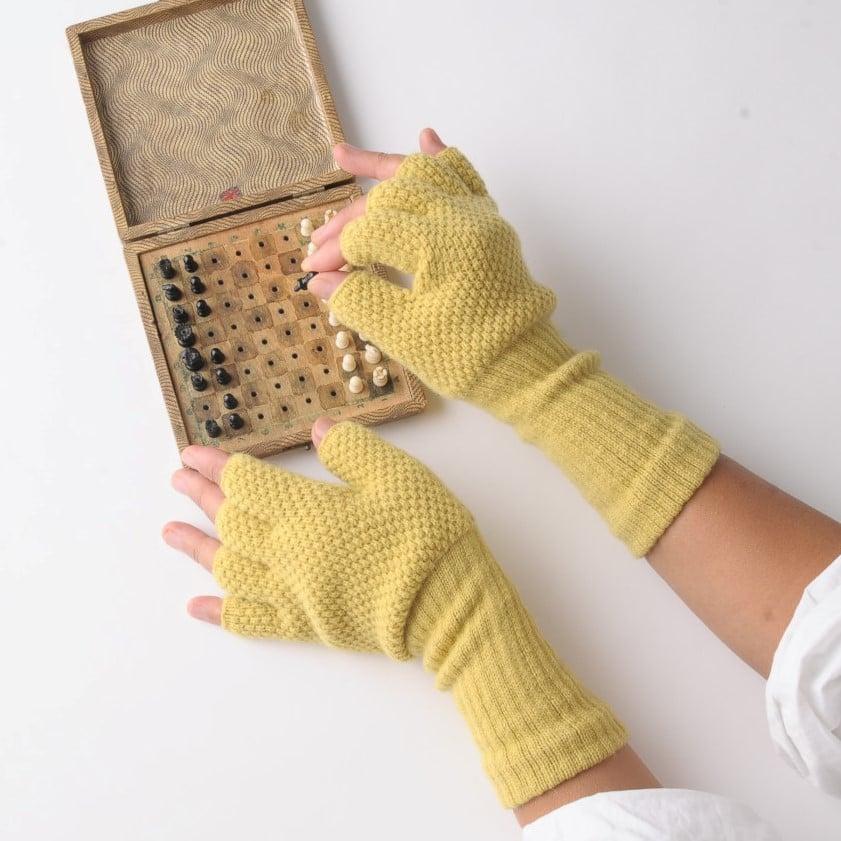 Image of Moss Fingerless Gloves
