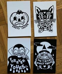 Image of XL halloween postcard set