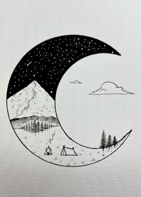Image of Crescent Moon Mountain Original