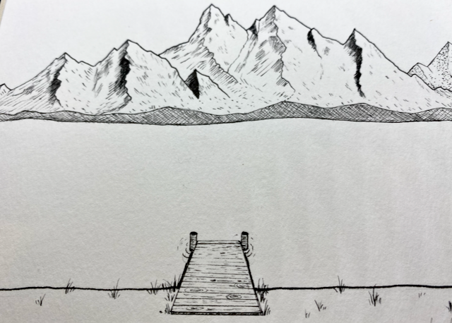 Image of Mystic Mountain Lake Original