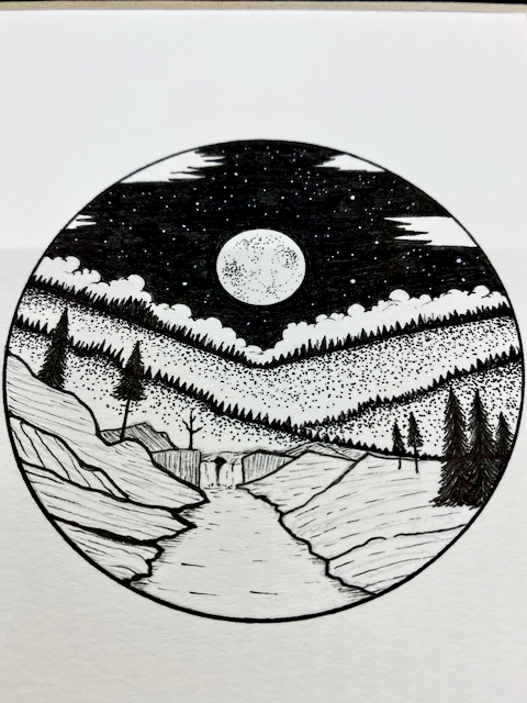 Image of Full Moon Forest Original