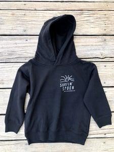 Image of Kids Spoon Sun Pullover Hoodie - Black