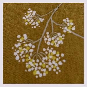 Image of Tissu: wilflowers mustard