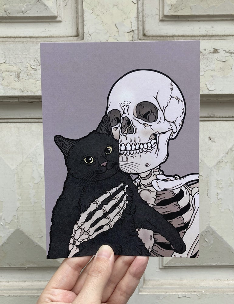 Image of Black kitty print