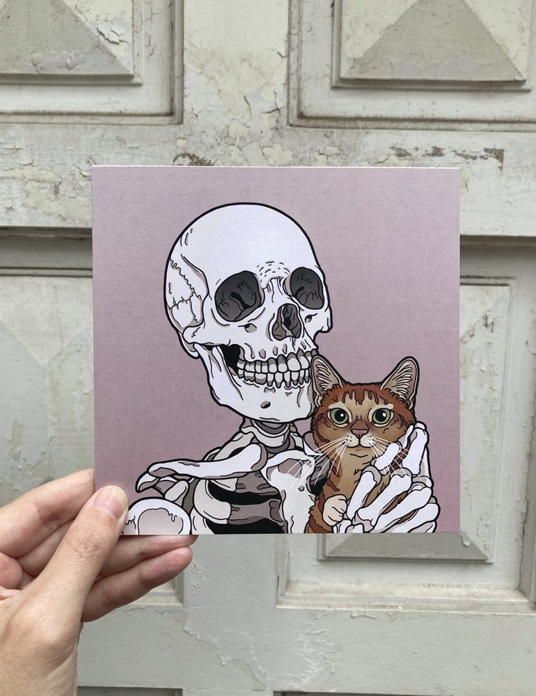 Image of Marmalade cat friend print