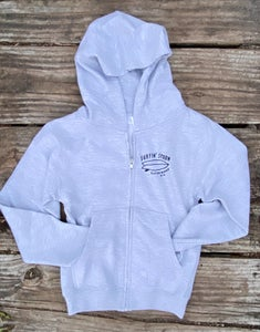 Image of Kids Spoon Barrel Zip-Up - Gray