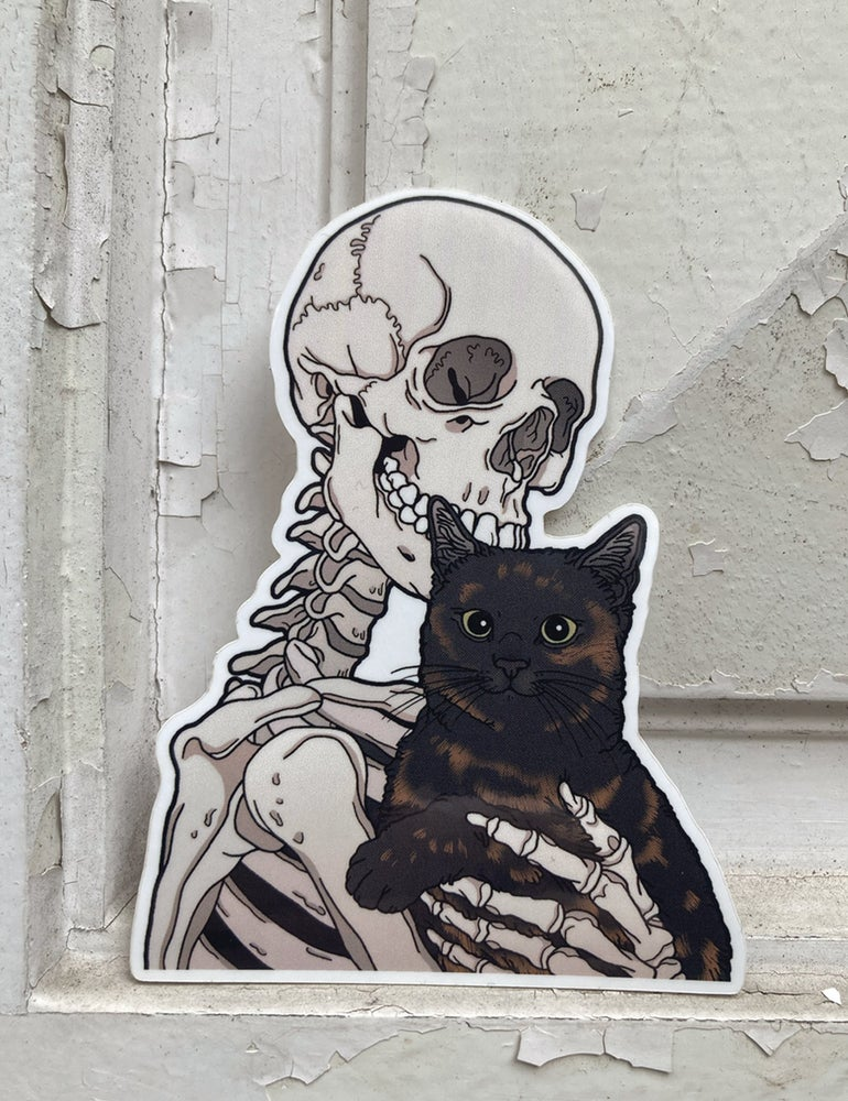 Image of Tortie cat friend sticker