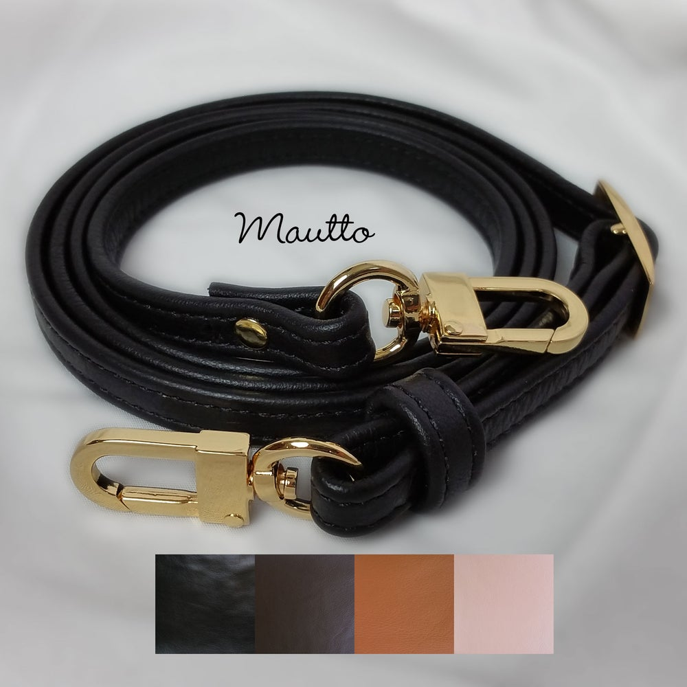 Image of Extra Petite Adjustable Leather Strap - 3/8 inch Wide - for BB/Mini/Nano/Petite Bags - #16C LG Clips