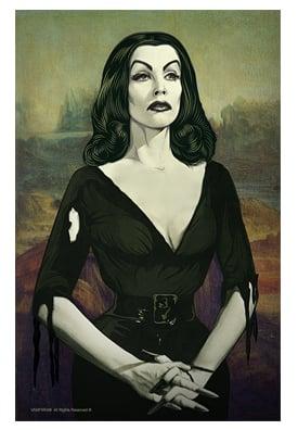 "Image of Vampira® ""Portrait"" 11x17 inch Poster"