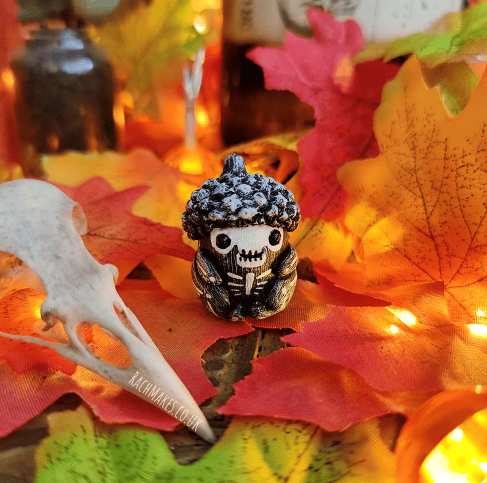 Image of Halloween Acorn Baby - Skeleton