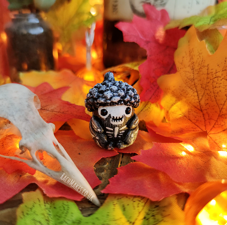Image of Halloween Acorn Baby - Skeleton