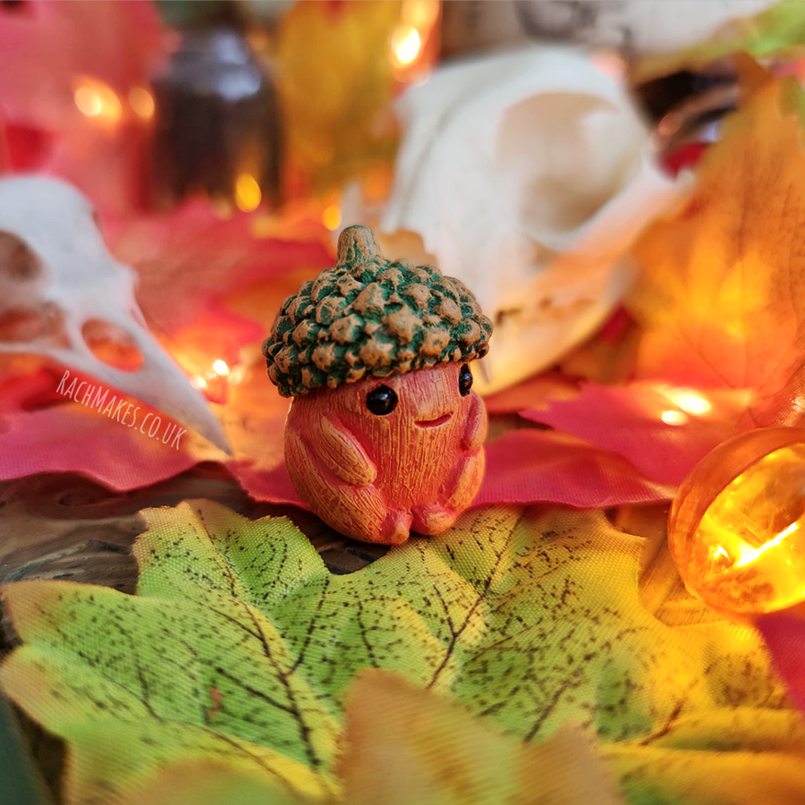 Image of Halloween Acorn Baby - Pumpkin