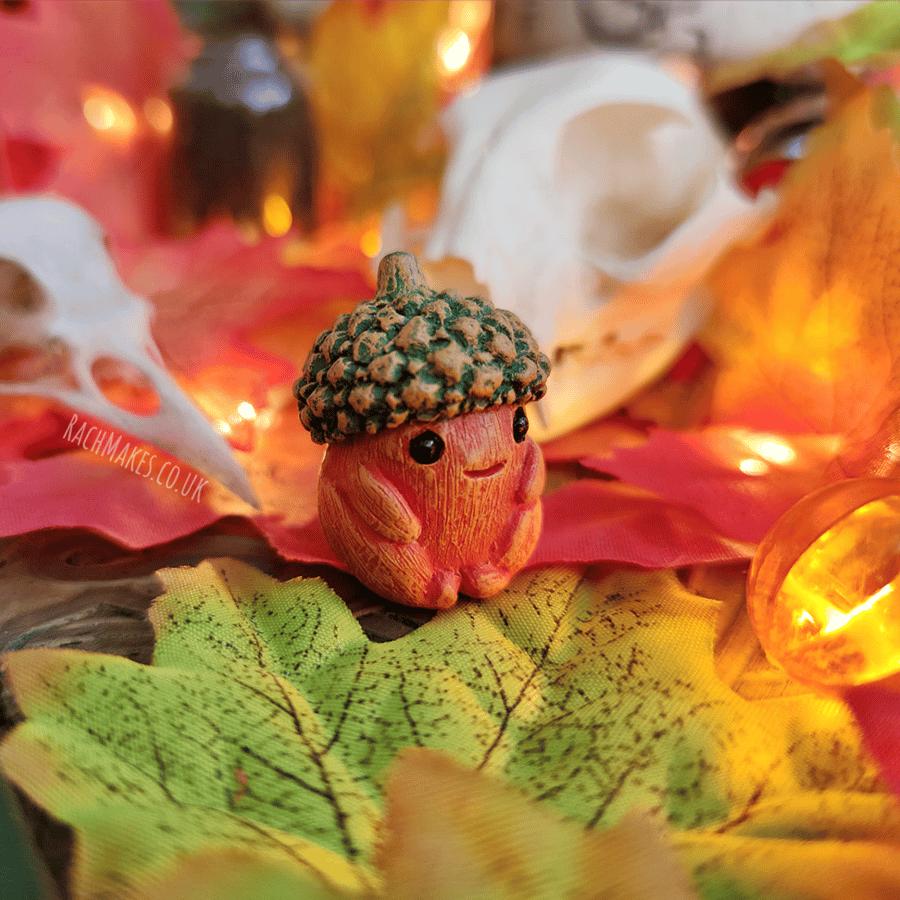 Image of Halloween Acorn Baby - Pumpkin