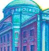 NYC Pride: Earl Hall (Framed Art Print)