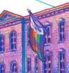 NYC Pride: LGBT Center (Framed Art Print)