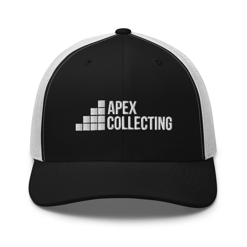 Image of Black & White Apex Collecting Logo Trucker Hat