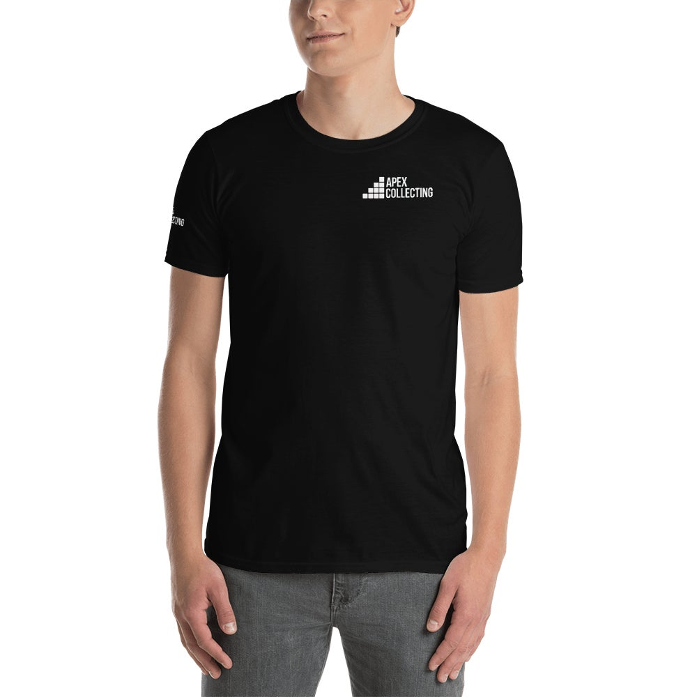 Image of Men's Apex Collecting Logo Cotton T-Shirt Black
