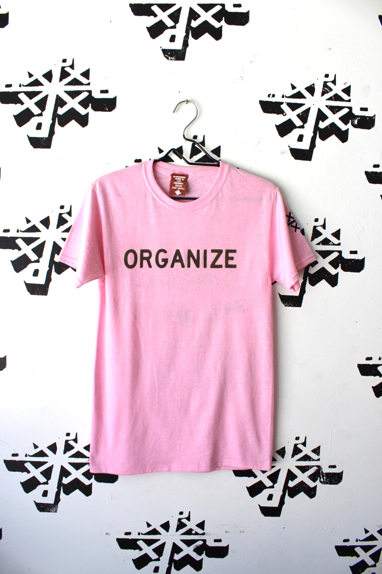 Image of organize and DWS tee in pink
