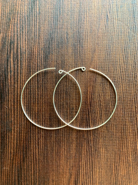Image of Solid silver Hoops!