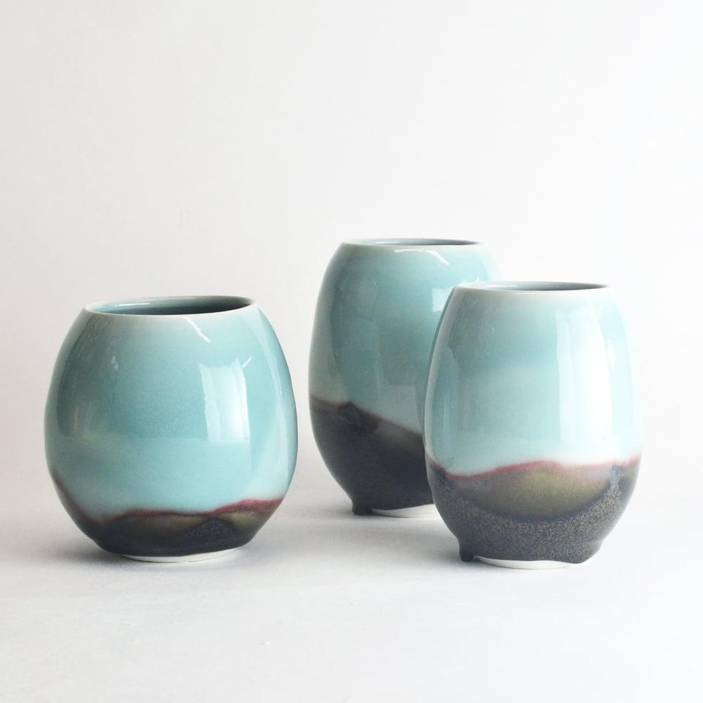 Image of aqua vase