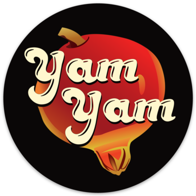 Image of YAM YAM - POMEGRANATE STICKER