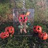 Lil' Pumpkin Clown Holographic Keychain