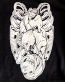 """Image 1 of """"The Moon Reversed"""" Hand-Printed T-shirt"""
