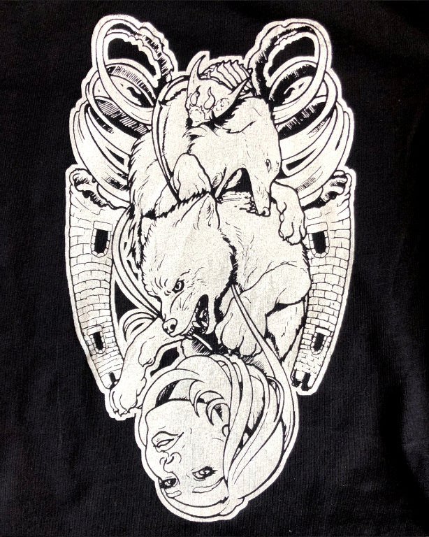 """Image of """"The Moon Reversed"""" Hand-Printed T-shirt"""