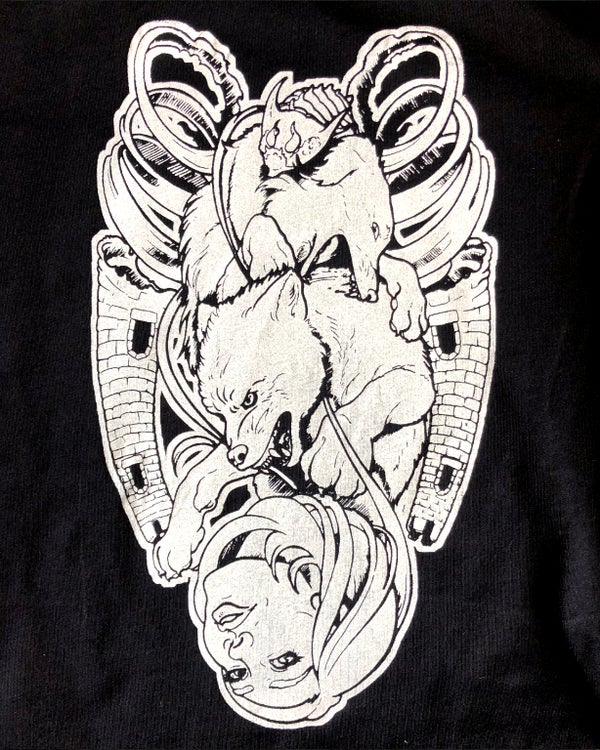 "Image of ""The Moon Reversed"" Hand-Printed T-shirt"